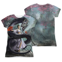 Image Closeup for Anne Stokes Girls Sublimated T-Shirt - Dragon Dancer