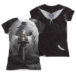 Image Closeup for Anne Stokes Girls Sublimated T-Shirt - Prayer for the Fallen