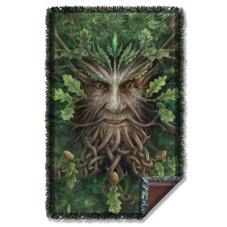 Image for Anne Stokes Woven Throw Blanket - Oak King