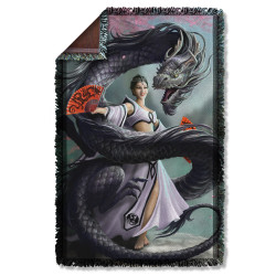 Image for Anne Stokes Woven Throw Blanket - Dragon Dancer