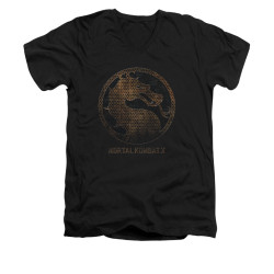 Image for Mortal Kombat X V-Neck T-Shirt - Metal Seal