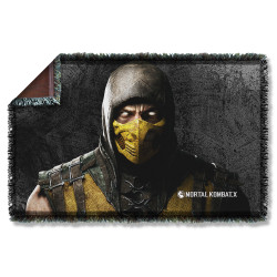 Image for Mortal Kombat Woven Throw Blanket - Scorpion
