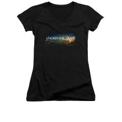 Image for Under the Dome Girls V Neck T-Shirt - Dome Key Art