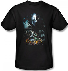 Image Closeup for Batman T-Shirt - Arkham Asylum Five Against One