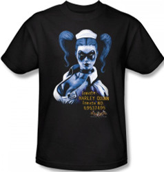 Image Closeup for Batman T-Shirt - Arkham Asylum Arkham Harley Quinn
