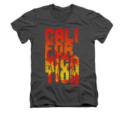 Image for Californication V-Neck T-Shirt - Cali Type