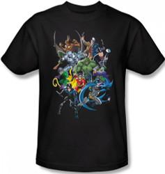 Image Closeup for Batman T-Shirt - Saints and Psychos