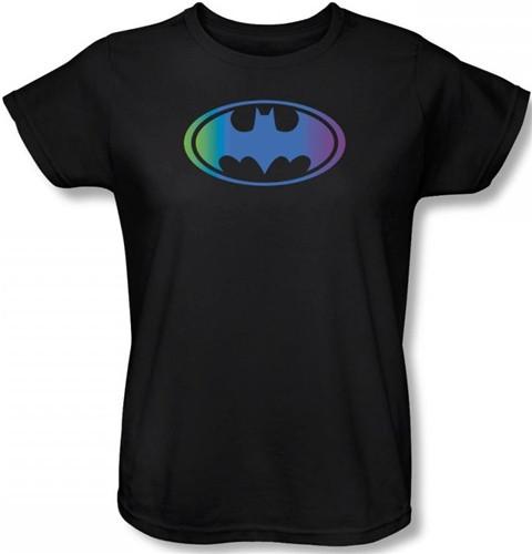 2a96e76f1e Batman Womens T-Shirt - Gradient Bat Logo. Loading zoom. Hover over image to  zoom