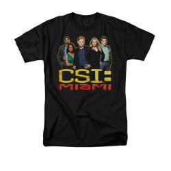 Image for CSI Miami T-Shirt - The Cast in Black