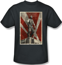 Image for The Dark Knight Rises T-Shirt - Bane Rooftop Poster