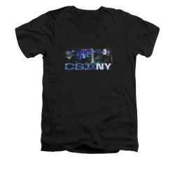 Image for CSI NY V-Neck T-Shirt - Never Rests