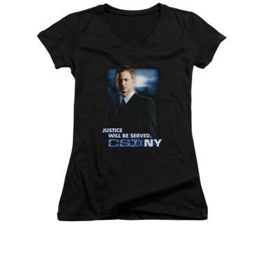 Image for CSI: NY Girls V Neck T-Shirt - Justice Served