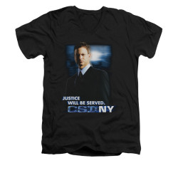 Image for CSI: NY V-Neck T-Shirt - Justice Served