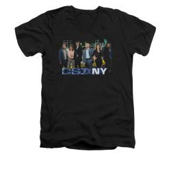 Image for CSI: NY V-Neck T-Shirt - Cast