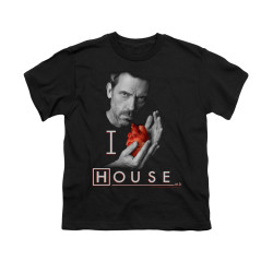 Image for House Youth T-Shirt - I Heart House