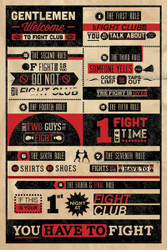 Image for Fight Club Poster - the Rules