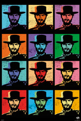Image for Clint Eastwood Poster - Pop Art