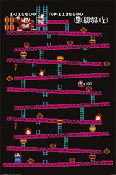 Image for Donkey Kong Poster - Level 1