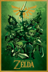 Image for Legend of Zelda Poster - Links