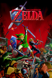 Image for Legend of Zelda Poster - Battle