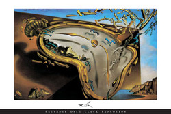 Image for Dali Clock Explosion Poster