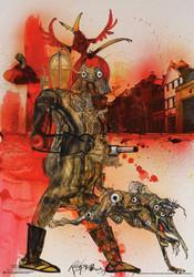 Image for Ralph Steadman Fahrenheit 451 Poster
