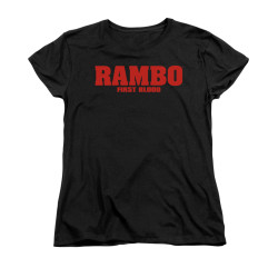 Image for Rambo Woman's T-Shirt - Logo
