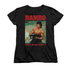 Image for Rambo Woman's T-Shirt - Dropping Shells