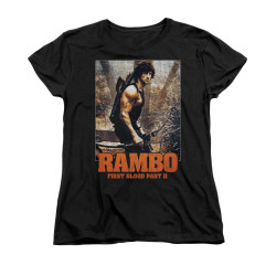Image for Rambo Woman's T-Shirt - The Hunt