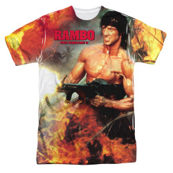 Image for Rambo Sublimated T-Shirt - Become War 100% Polyester