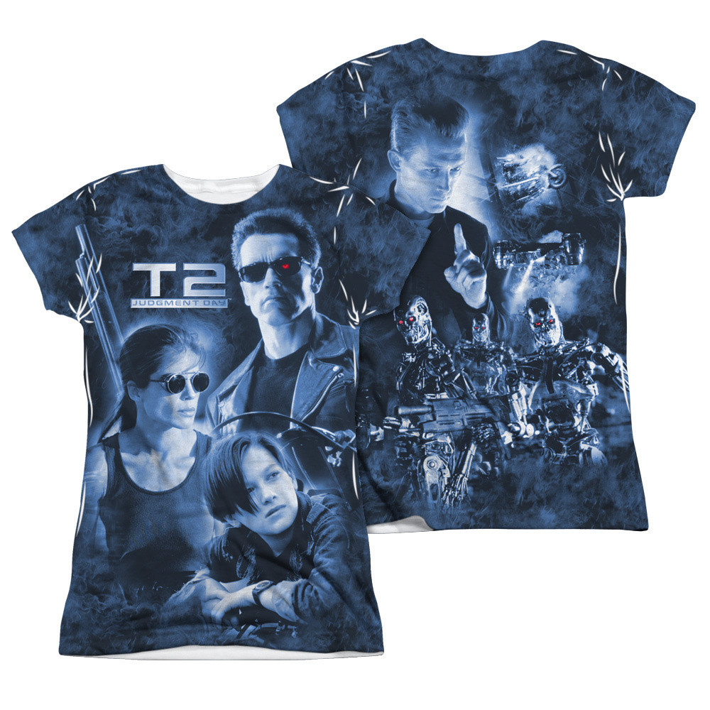 1644ef374b358 Hover over image to zoom. Image for Terminator 2 Girls Sublimated T-Shirt  ...