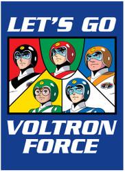 Image for Voltron Let's Go Voltron Force magnet