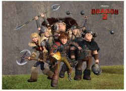 Image for How to Train Your Dragon Viking Group magnet