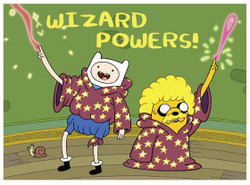 Image for Adventure Time Wizard Powers magnet