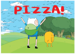 Image for Adventure Time Pizza! magnet