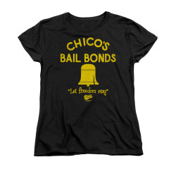 Image for Bad News Bears Woman's T-Shirt - Chico's Bail Bonds