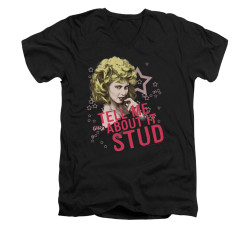 Image for Grease V-Neck T-Shirt - Tell Me About It Stud