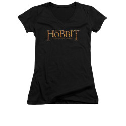 Image for The Hobbit Girls V Neck T-Shirt - Logo