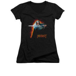 Image for The Hobbit Girls V Neck T-Shirt - Secret Fire