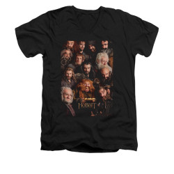 Image for The Hobbit V-Neck T-Shirt - Dwarves Poster