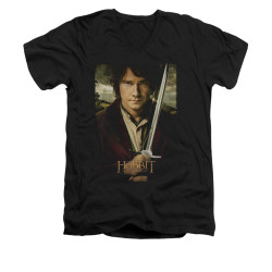 Image for The Hobbit V-Neck T-Shirt - Baggins Poster