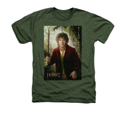 Image for The Hobbit Heather T-Shirt - Bilbo Poster