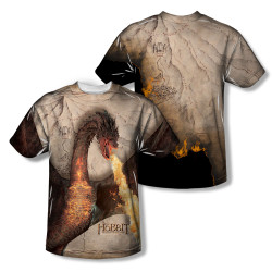 Image Closeup for The Hobbit Sublimated Youth T-Shirt - Smaug Attack