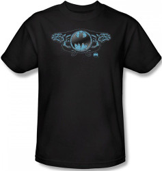 Image Closeup for Batman T-Shirt - Two Gargoyles Logo