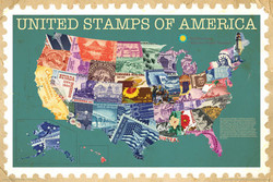 Image for Smithsonian Poster - United Stamps of America