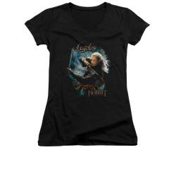 Image for The Hobbit Girls V Neck T-Shirt - Knives
