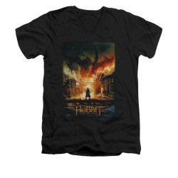 Image for The Hobbit V-Neck T-Shirt - Smaug Poster