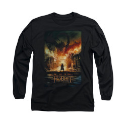 Image for The Hobbit Long Sleeve T-Shirt - Smaug Poster
