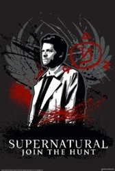 Image for Supernatural Poster - Castiel Red