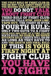 Image for Fight Club Poster - 8 Rules of Fight Club